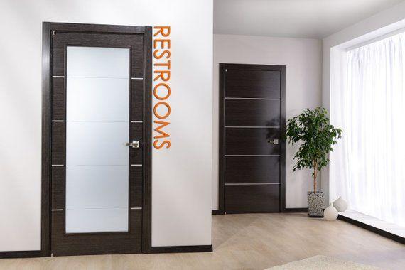 Huge Restroom Sign Typography Letters 6 X 48 Modern