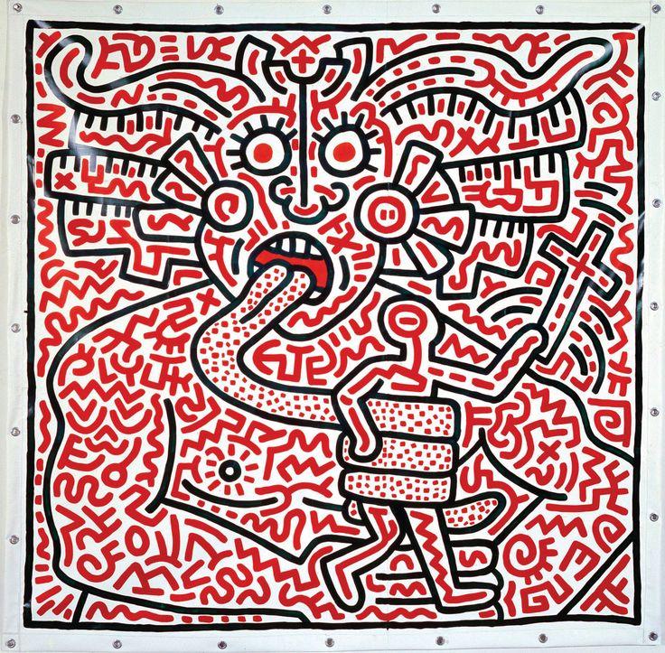 Keith-Haring (1958-1990) En utilisant la rue et les espaces publics pour s'adresser au plus grand nombre, ses « subway drawings » réalisés dans le métro, ses peintures, ses dessins et sculptures, étaient porteurs de messages de justice sociale (racisme, homophobie, sida, nucléaire) de liberté individuelle et de changement. Icône du Pop art, artiste subversif et militant, Haring a multiplié les engagements tout au long de sa vie : très jeune, il était animé par une envie de transformer le…