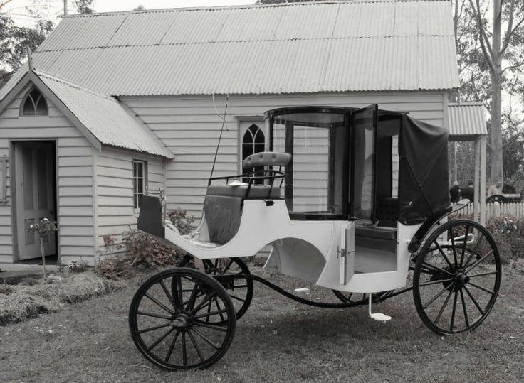 #Vintage #carriage #sulky #wedding #church #AusDayAPV