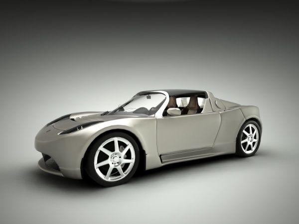 Beautiful Tesla car model