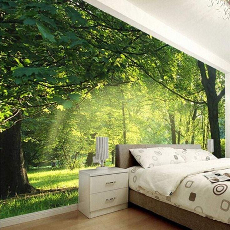 3D Forest Scenery Mural Wallpaper