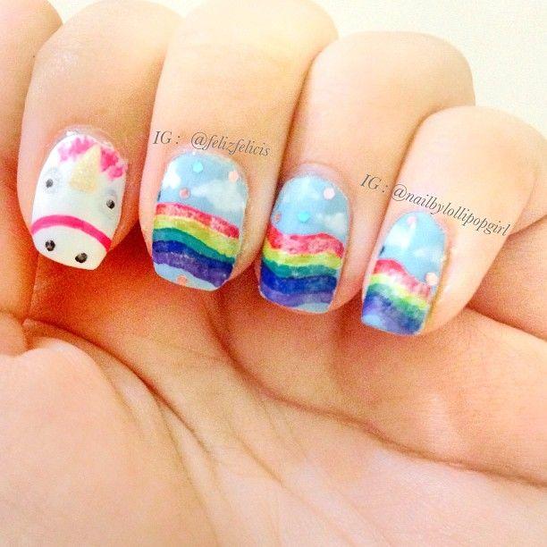 despicable me unicorn nails - photo #15