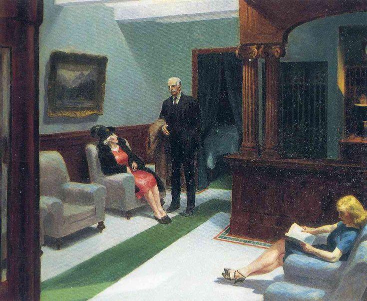 Hotel Lobby c.1943 - Edward Hopper