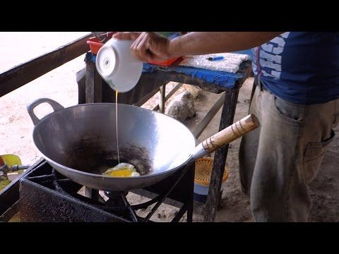 Nasi goreng ayam - Fried rice with chicken Lombok style - authentic Indonesian video recipe filmed in a street restaurant on Lombok island, Indonesia (source: my personnal food and travel blog / vlog with recipes, authentic video recipes, street food, food and travel documentary, travel info and more. Welcome! :) )
