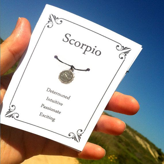 Schorpioen verjaardag wensen armband, wenskaart, astrologie armband, November sieraden, Zodiac presenteert, astrologie giften voor vrouw, vriendin