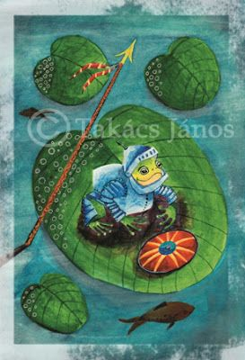 #illustration #frog #lake by Janos Takacs
