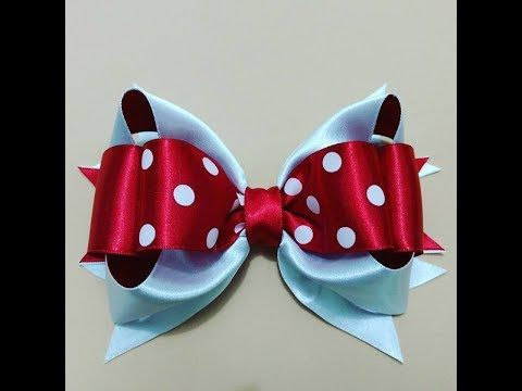 LAÇO BOUTIQUE DUPLO - TUTORIAL PASSO A PASSO - RIBBON BOW HAIR - Dani Ferrari. - YouTube