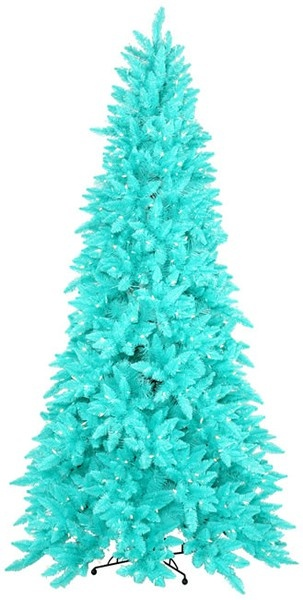 ... turns out they DO make turquoise Christmas trees!