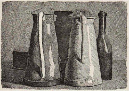 Giorgio Morandi, Still Life with Jugs, 1956 - at Estorick Collection, London http://www.estorickcollection.com/permanent/Giorgio_Morandi.php