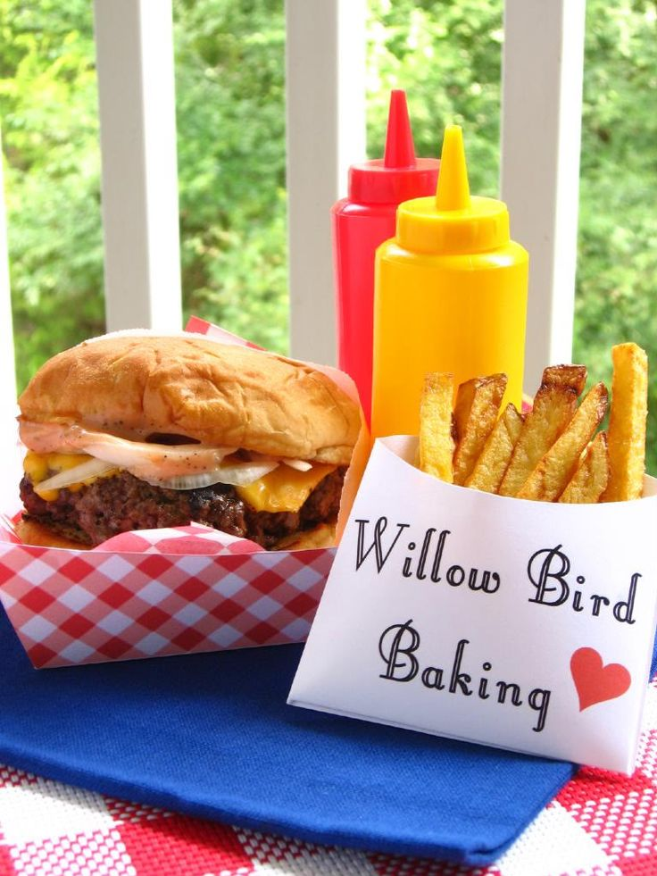 Old-Fashioned Burger Stand Burgers & Easy French Fries - Willow Bird Baking > Willow Bird Baking