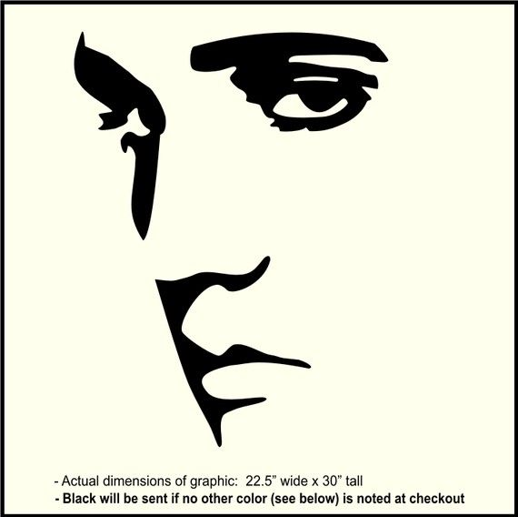 Large ELVIS PRESLEY Wall Decal Vinyl sticker by WallCrafters