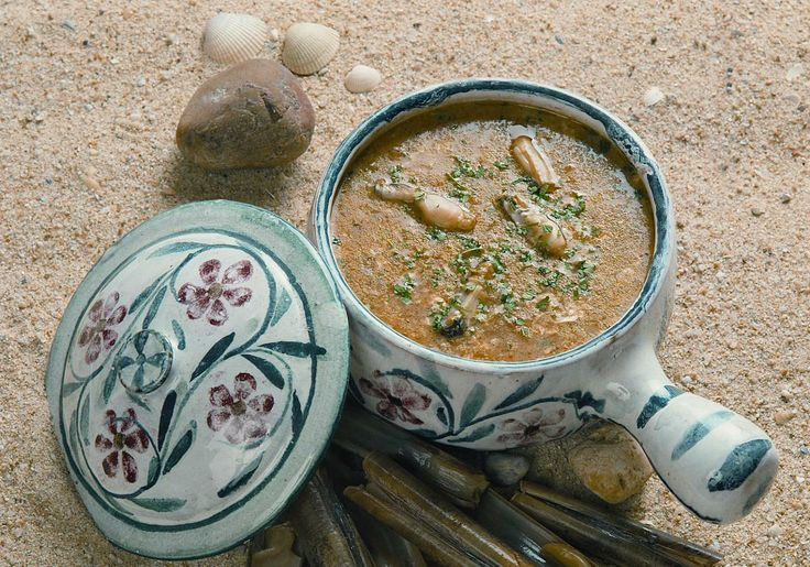 Razor clam soup  A delicious soup made with the best of the shellfish from Algarve.