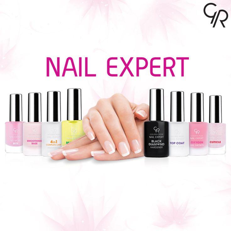 Tırnakların için ihtiyacın olan sağlık ve bakım Golden Rose Nail Expert serisinde!