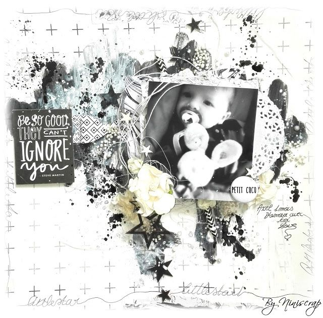 """Accent Scrapbooking: Page """" Petit coco """" by Niniscrap"""