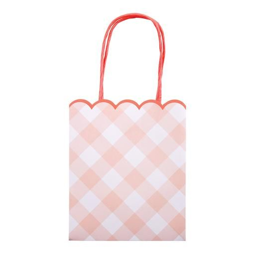 Pink Gingham Party Bags Party Supplies Gingham Party Party Bags Party