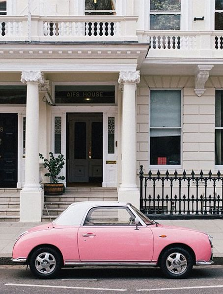 It was my ambition when younger to own a pink car and a pink caravan...