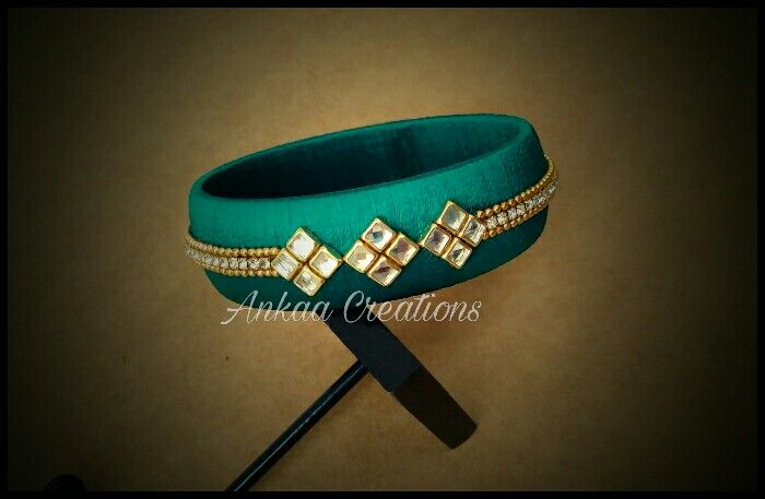 Customized silk thread bangles... plz visit https://www.facebook.com/ankaa.creations for more collections n like our page.. Thank u