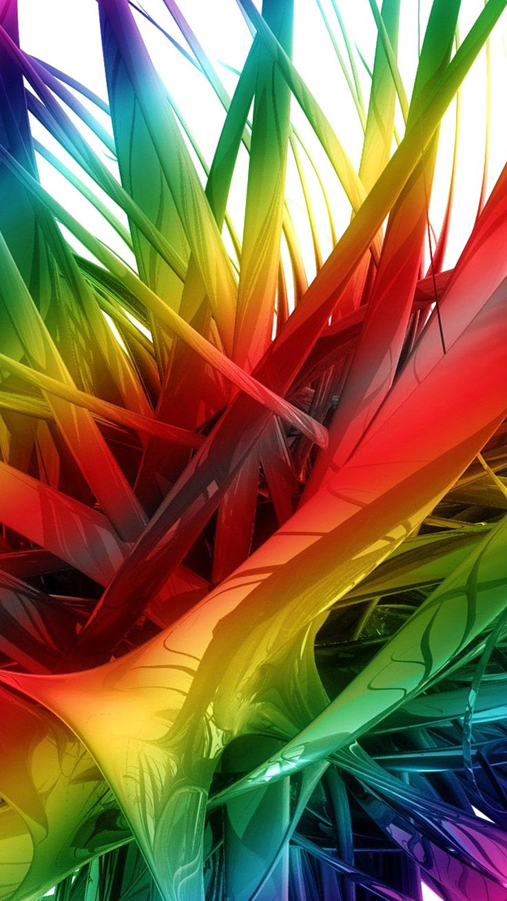 Abstract Colorful Wallpaper for Android Phones with 5 inch Display