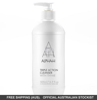 Alpha-H Triple Action Cleanser - 500ml value pump pack