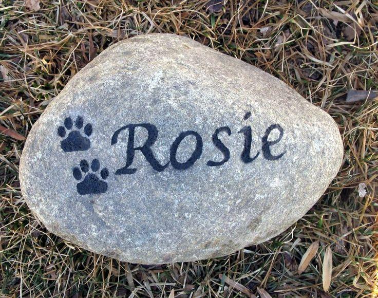 Stone Pet Memorial Personalized Garden Headstone Pet Grave