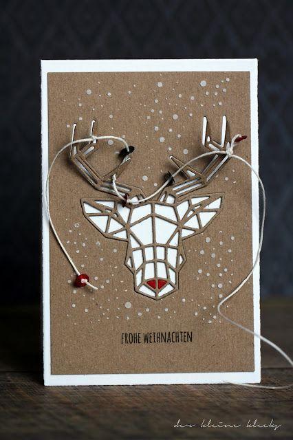 Geometric red-nosed reindee. // Geo-Hirsch von Charlie