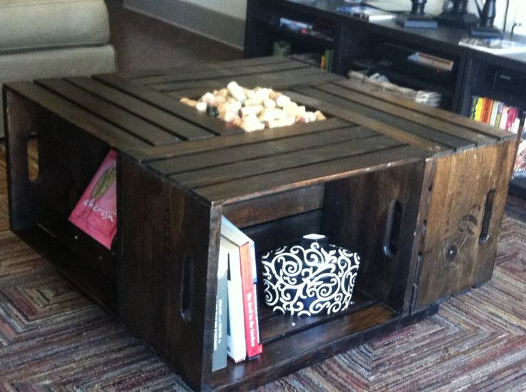 1000 ideas about crate coffee tables on pinterest wine for Small wine crates