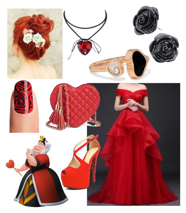 """""""Disney Prom- Queen of hearts"""" by theclocker ❤ liked on Polyvore featuring Royal Style and Chopard"""