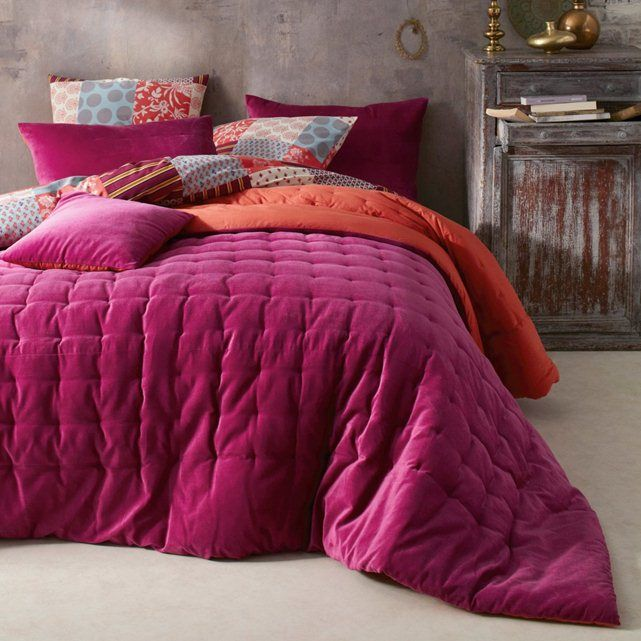 Damya Quilted Two-Tone Throwover La Redoute Interieurs