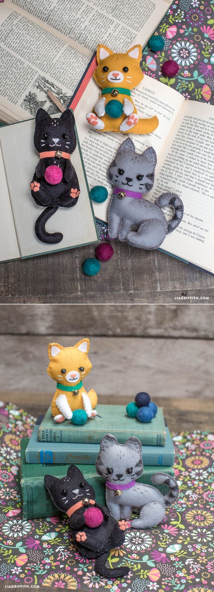 Gatinhos de feltro