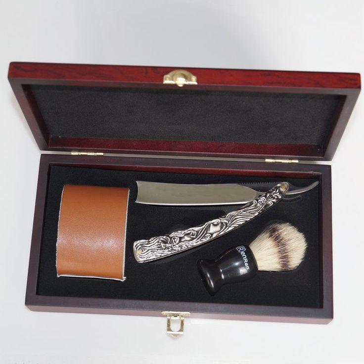 New Shave Kit Knife Men Straight Razor Shaving Brush and leather Strop Gift #01 | Collectibles, Vanity, Perfume & Shaving, Shaving | eBay!