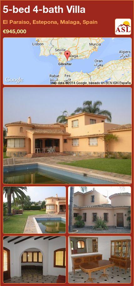 5-bed 4-bath Villa in El Paraiso, Estepona, Malaga, Spain ►€945,000 #PropertyForSaleInSpain