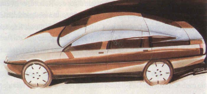 OG | 1987 Opel Omega A / Vauxhall Carlton Mk3 - coded V87 | Design sketch