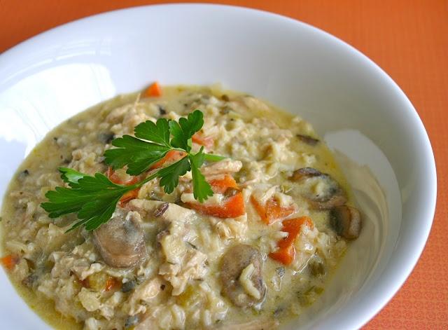 My Retro Kitchen: Creamy Chicken and Wild Rice Soup