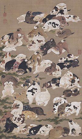 伊藤若冲 《百犬図》