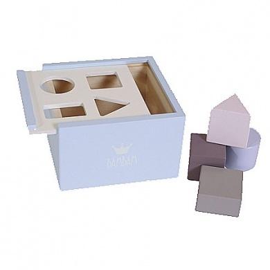 BamBam - Wooden Blocks Box Blue  - #poshprezzi
