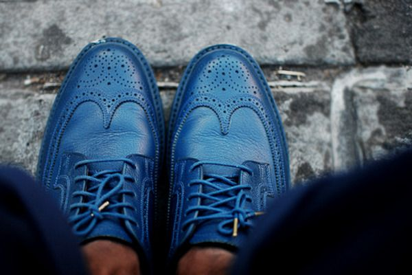 men shoes- blue borgues