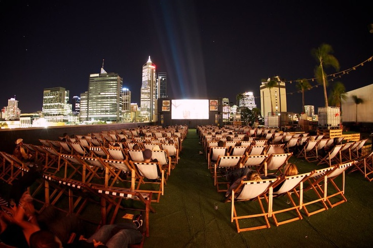 Rooftop movies - City of Perth Australia - by Jarrad Seng Photography