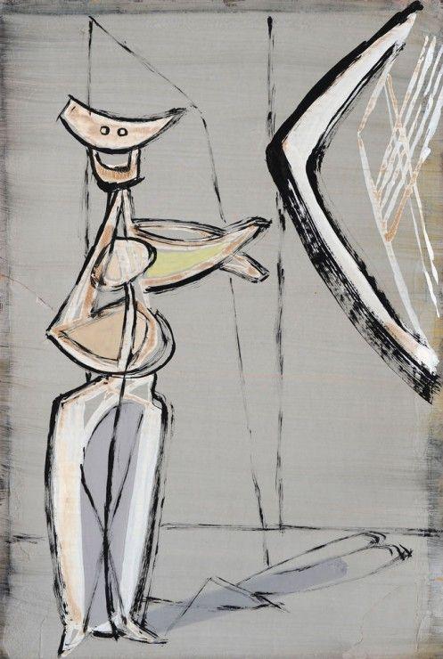 JankelAdler - Abstract Figure in Grey Interior