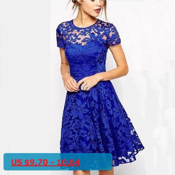 2017 New Fashion Summer Women Dress Casual O-Neck Mini Club A-Line Dress Big Size Sexy Office Lace Dress Vestidos Ladies Clothes