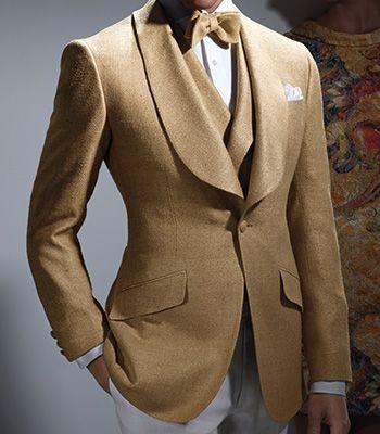 Paul Stuart - Silk Herringbone Dinner Jacket