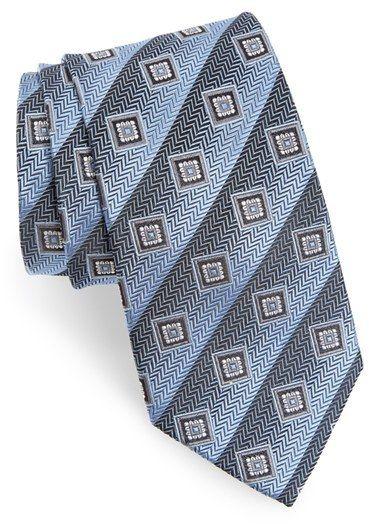 Men's Nordstrom Men's Shop Geometric Silk Tie