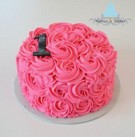 Rose swirl smash cake-cute!