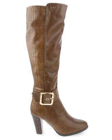 Bronx Women Noelle Boots Camel Size 6