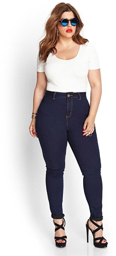 Plus Size High-Waisted Skinny Jeans - Best 25+ Plus Size Jeans Ideas On Pinterest Plus Size Style
