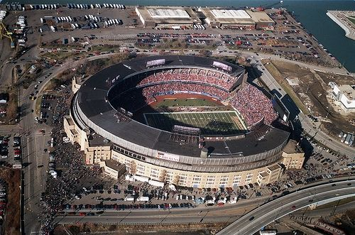 Cleveland Municipal Stadium in Ohio. (Demolished in 1996).