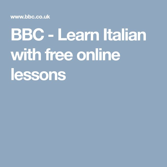BBC - Learn Italian with free online lessons