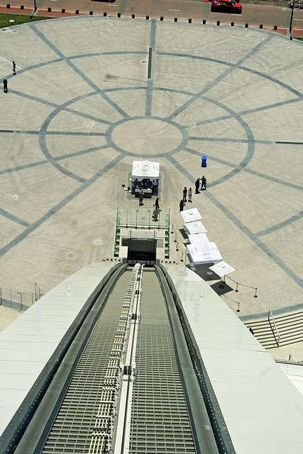 Looking down from the Skycar at the Moses Mabhida Stadium
