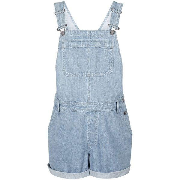 TOPSHOP MATERNITY Short Dungarees ($21) ❤ liked on Polyvore featuring overalls, maternity, jumpsuit, playsuits, bleach and topshop