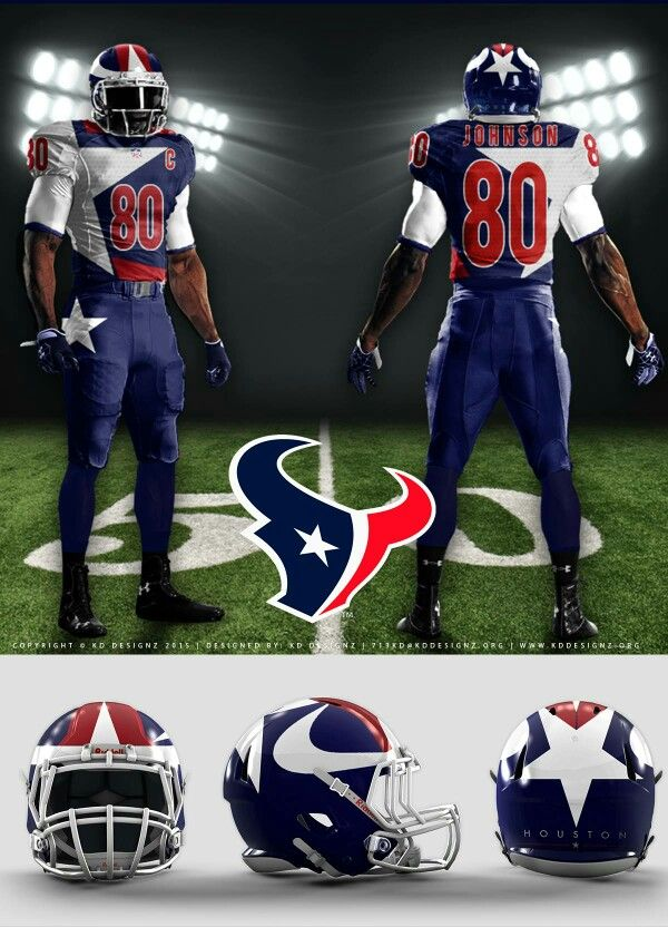 Houston Texans Uniform Concept #KDDesignz #HoustonTexans #NFL