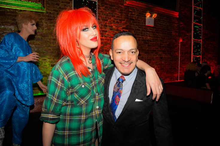 Anthony Rubio attends the Christmas Cher Holiday event at The Liberty Theater with Adore Delano from RuPaul's Drag Race. Christmas Queens CD is out now.